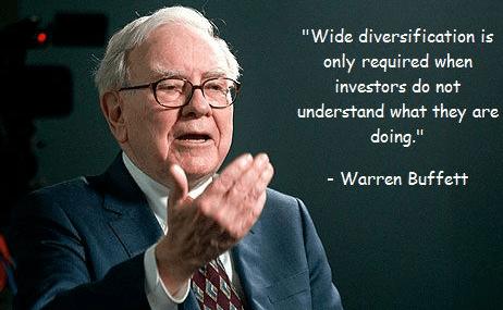 warren buffet on diversification