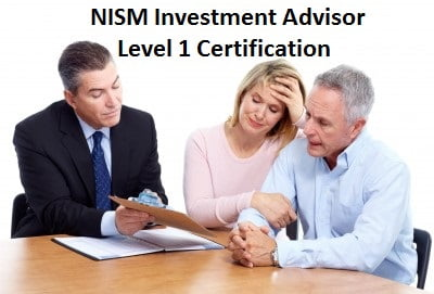 Nism investment adviser level 1 certification