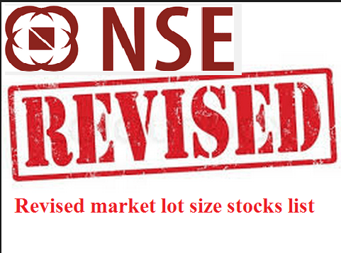nse revised market lot size stocks list
